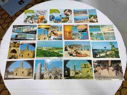 VINTAGE POSTCARD LOT X 15  CYPRUS - AYIA NAPA VIEWS UNUSED - Chypre