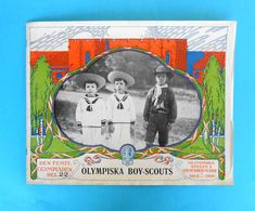 OLYMPIC BOY SCOUTS - OLYMPIC GAMES 1912. - Original Vintage Programme/review Issued 1912.y * Scouting Scout Pfadfinder - Scoutisme