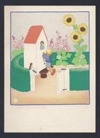 Santini Image Pieuse Holy Card ILLUSTR. JEANNE HEBBELYNCK  PREMIERE COMMUNION JEAN-PIERRE VANDERGHOTE CHAPELLE 1940 - Devotion Images
