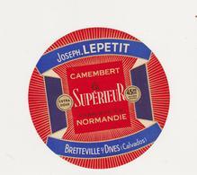 ETIQUETTE DE CAMEMBERT LEPETIT BRETTEVILLE SUR DIVES 14 AI - Quesos