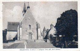 Francueil. L'Eglise. (Borne Michelin Au Premier Plan) - Autres Communes