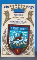 05 - SAINT-BONNET - ÉCUSSON BLASON - ADHÉSIF MÉTALLISÉ DOUBLE FACE - France