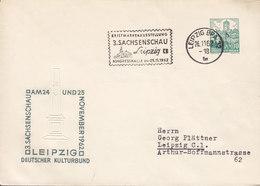 Germany DDR Postal Stationery Ganzsache Wartburg (Eisenach) PRIVATE Print '3. Sachsenschau' LEIPZIG 1962 Cover Brief - Privatumschläge - Gebraucht