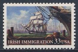 USA 1999 Mi 3092 YT 2853 Sc 3286 SG 3570 ** Irish Immigration Ship / Auswandererschiff Im 19. Jahrhundert - Transportmiddelen