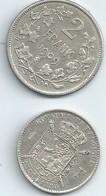 2 MONNAIES ARGENT  BELGIQUE 1 Franc 1830:1880 Ttb+ Et 2 Francs 1909 T T B + N049 - 07. 1 Franc