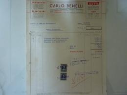"""Fatura """"CARLO BENELLI"""" 1959 - Italia"""
