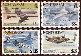 Montserrat 1993 RAF Aviation Aircraft MNH - Montserrat