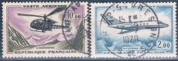 Francia 1960 / 64  --  Yvert - AE 41 + 42  ( Usados ) 1 - Aéreo