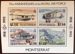 Montserrat 1993 RAF Aviation Aircraft Minisheet MNH - Montserrat