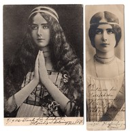 Cleo De Merode 2 Postcards 4,3 X 14 & 9 X 14 Cm - Danse
