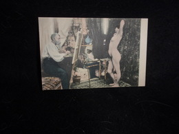 """Arts. Série """" Le Peintre Et Son Modèle """" Avant 1903. Voir 2 Scans . - Arts"""