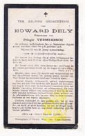 DP Edward Dely ° Bekegem Ichtegem 1845 † 1918 X Pelagie Vermeersch - Devotion Images