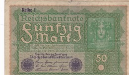 ALLEMAGNE 50 MARK / 1919 - [ 3] 1918-1933: Weimarrepubliek