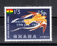 Ghana - 1965. Pennant-winged Nightjar , Characteristic Central African Bird. New Value MNH Rare - Moineaux