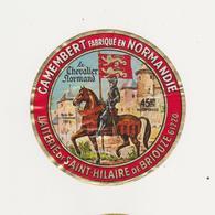 ETIQUETTE DE CAMEMBERT LE CHEVALIER NORMAND GILLOT ST HILAIRE DE BRIOUZE 61 402 - Cheese