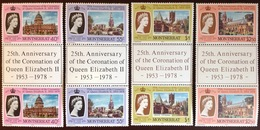 Montserrat 1978 Coronation Anniversary Gutter Pairs MNH - Montserrat