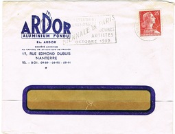 ENVELOPPE  A EN-TETE ARDOR ALUMINIUM FONDU NANTERRE - 1921-1960: Modern Period