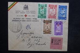 ETHIOPIE - Enveloppe Croix Rouge En Recommandé De Addis Abeba En 1950 Pour Djibouti, Affranchissement Plaisant - L 24502 - Ethiopie