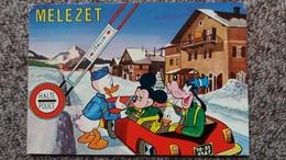 CPSM MELEZET ITALIE HALTE DOUANE POLICE AUTO DONALD MICKEY PLUTO DISNEY - Disney