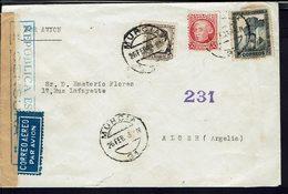 Espagne - 1938 - Affranchissement Tricolore à 1.35 Ptas Sur Enveloppe De Murcia Pour Alger - Contrôle De Censure - B/TB. - 1931-Aujourd'hui: II. République - ....Juan Carlos I