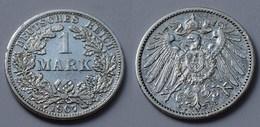 1 Mark Jäger 17 Silber Münze Großer Adler 1907 F Kaiserreich  (22021 - [ 2] 1871-1918: Deutsches Kaiserreich