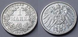 1 Mark Jäger 17 Silber Münze Großer Adler 1907 A Kaiserreich  (22020 - [ 2] 1871-1918 : Empire Allemand