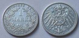 1 Mark Jäger 17 Silber Münze Großer Adler 1896 A Kaiserreich  (22022 - [ 2] 1871-1918: Deutsches Kaiserreich