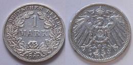 1 Mark Jäger 17 Silber Münze Großer Adler 1905 A Kaiserreich  (22028 - [ 2] 1871-1918: Deutsches Kaiserreich