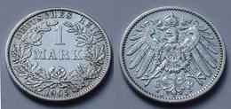 1 Mark Jäger 17 Silber Münze Großer Adler 1905 A Kaiserreich  (22026 - [ 2] 1871-1918 : Empire Allemand