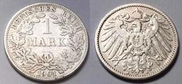 1 Mark Jäger 17 Silber Münze Großer Adler 1901 A Kaiserreich  (22038 - [ 2] 1871-1918: Deutsches Kaiserreich