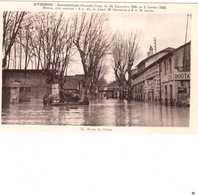 CPA VAUCLUSE.AVIGNON.INONDATIONS 1935.ROUTE DU PONTET - Avignon