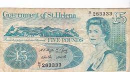 SAINTE HELENE 5 Pounds SAINT HELENA / RARE - Sainte-Hélène
