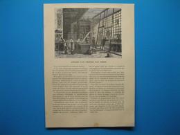 (1899) Gravures : Atelier D'un Peintre Sur Verre -- Ouvrière Parisienne Soufflant Une Fausse Perle - Old Paper