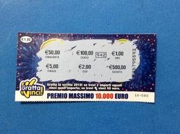 BIGLIETTO LOTTERIE NAZIONALI GRATTA E VINCI USATO 2018 € 1,00 - Biglietti Della Lotteria