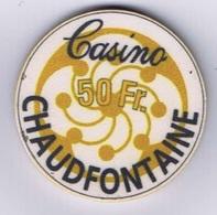 Casino Chip 50 BF Chaudfontaine Belgium Belgique - Casino