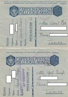 "9277-N°. 3  FRANCHIGIE P.M. 2° GUERRA E N°. 3 LETTERE SPEDITE DA ""POSTA MILITARE N.41"" - Marcophilia"