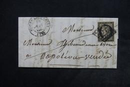 FRANCE - Lettre Pour Napoléon ( Vendée ) , Affranchissement Cérès 20ct Noir - L 24506 - Postmark Collection (Covers)