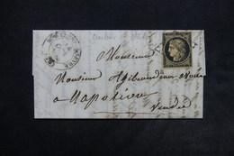 FRANCE - Lettre Pour Napoléon ( Vendée ) , Affranchissement Cérès 20ct Noir - L 24507 - Postmark Collection (Covers)