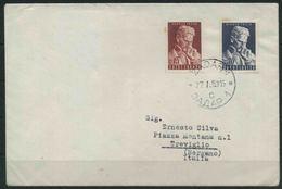 1953 Jugoslavia, Decennale Morte Nicola Tesla , FDC Non Viaggiata Serie Completa Nuova (**) - FDC