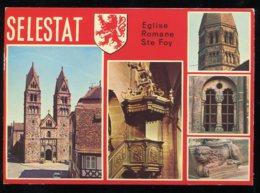 CPM Non écrite 67 SELESTAT Eglise Romane Sainte Foy Multi Vues - Selestat