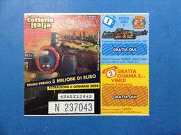 2007 BIGLIETTO LOTTERIA NAZIONALE ITALIA ESTRAZIONE 2008 - Loterijbiljetten
