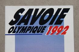 Savoie Olympique 1992, Albertville (Savoie), Plaquette éditée En 1987 - Bücher