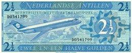 NETHERLANDS= 1970   2 1/2  GULDEN    P-21          UNC - Antilles Néerlandaises (...-1986)