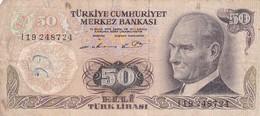 TURQUIE - 50 Lira 1970 - Turquie