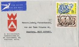 31684. Carta Aerea PINETOWN (Natal) South Africa 1961 - África Del Sur (1961-...)