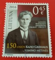 Lithuania Used Stamp 2016 - Lituania