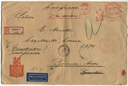 1934 Germania, Raccomandata Aerea Per L'argentina - Storia Postale