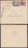BELGIQUE COB 144+145 SUR LETTRE EXPRES DE BRUXELLES 15/07/1921 VERS FRANKFURT (DD) DC-2250 - 1915-1920 Albert I