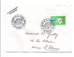 OBLITERATION 4 EME SALON CARTE POSTALE DE BARJAC GARD 1981 - Cachets Commémoratifs