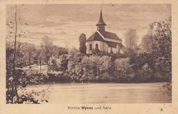 Kirche Wynau Und Aare, Stempel Wynau + Branau 1922 Mi: 164x - BE Berne